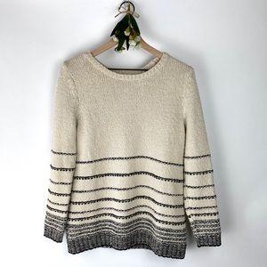 J. Jill Cozy Striped Color Block Sweater